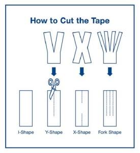 how to cut kinesio tape