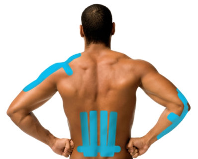 Kinesiology Tape on back