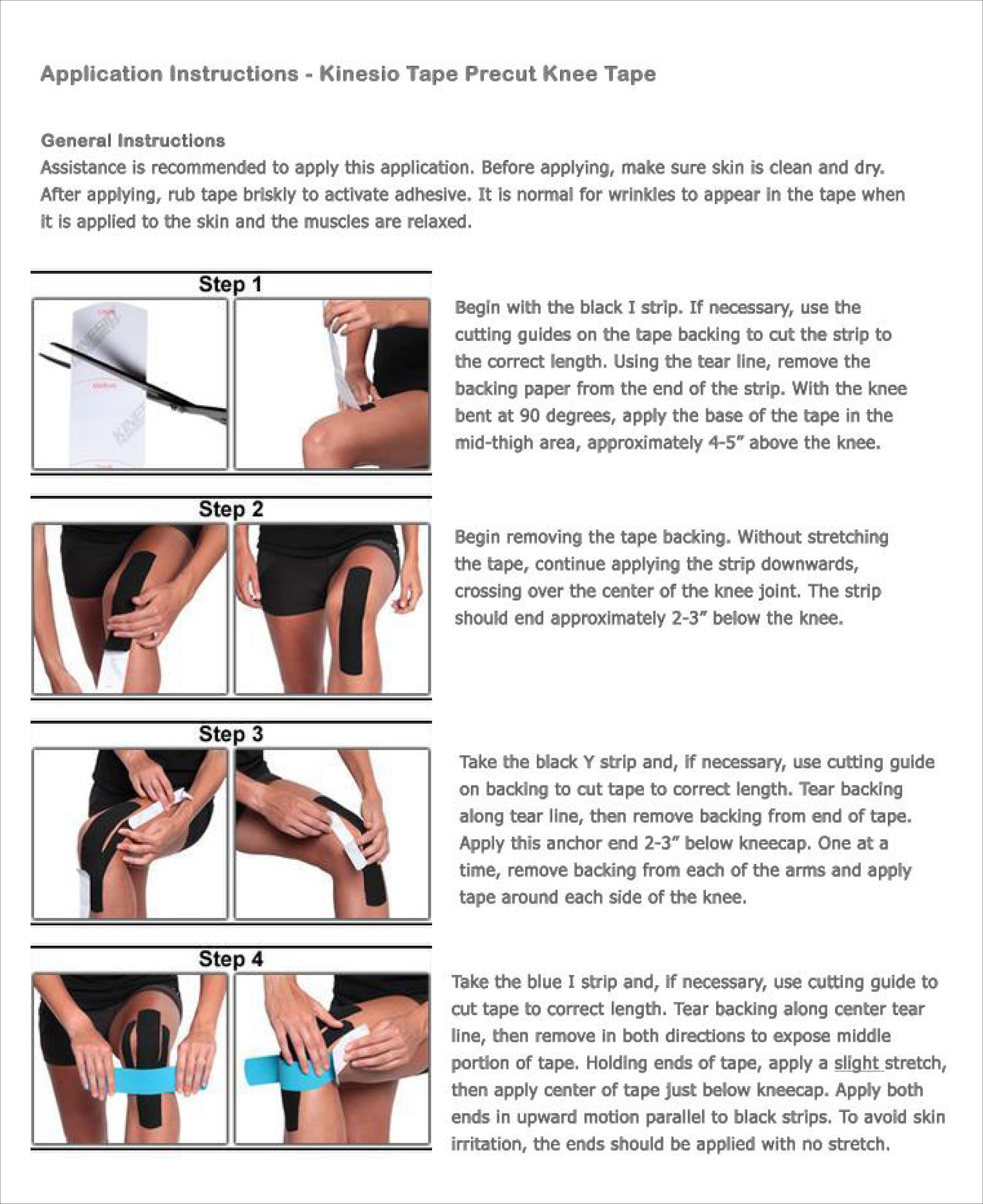 Knee Pain Kinesio Tape Theratape Education Center