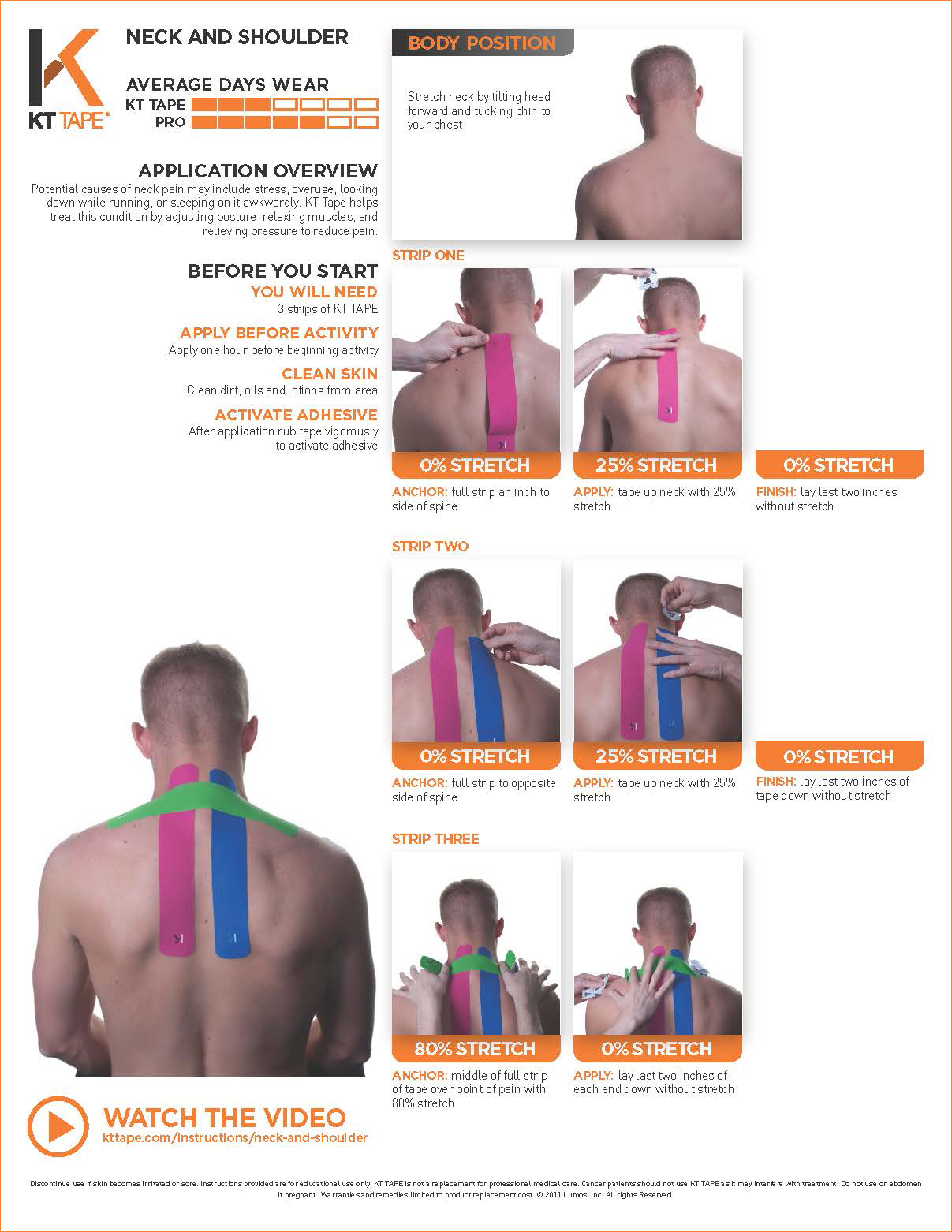 Neck and Shoulder Pain - KT Tape • TheraTape Education Center