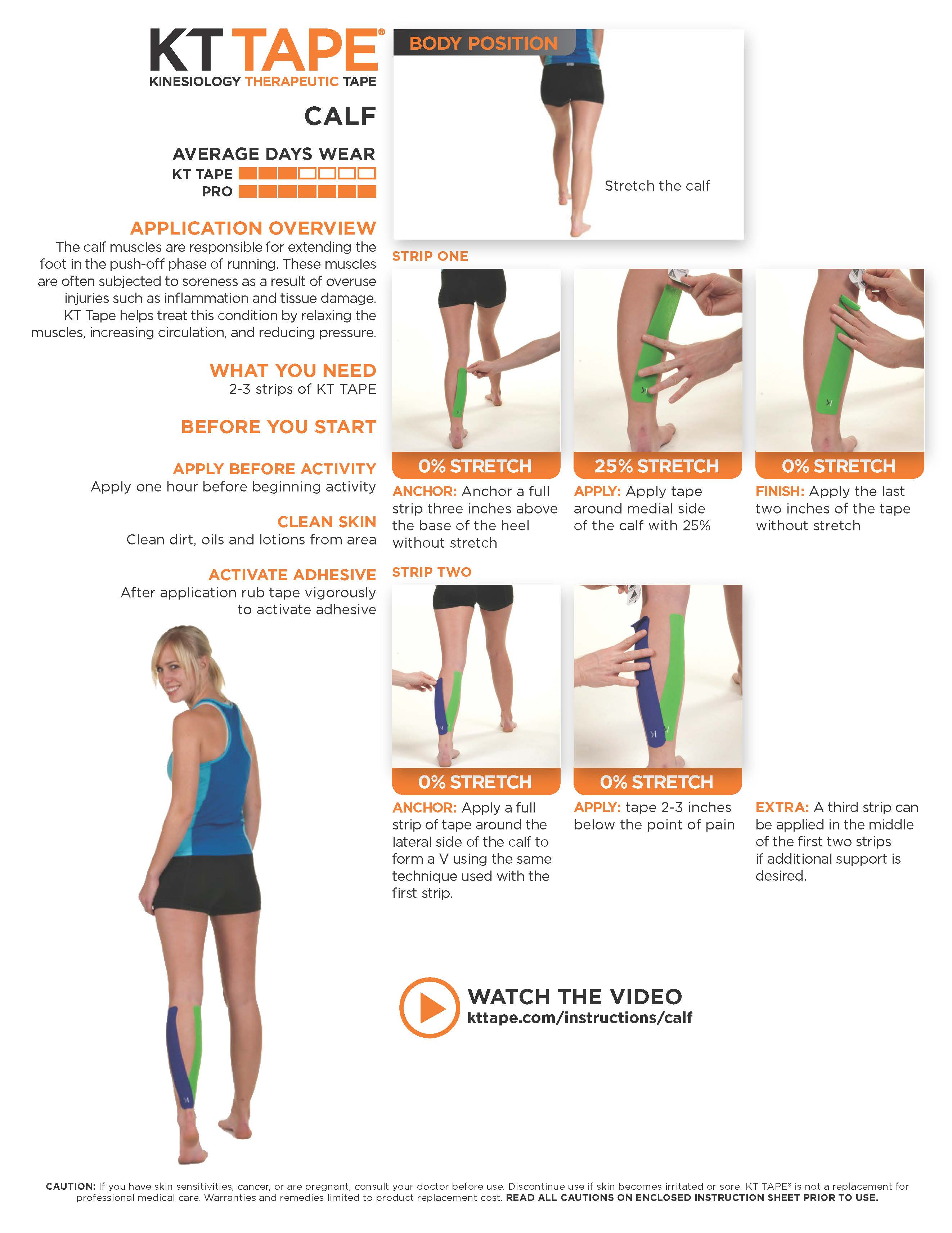 calf pain tape instructions kt tape theratape
